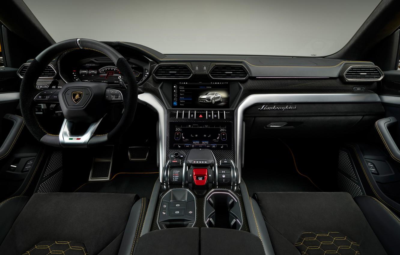 Фото обои Lamborghini, салон, 2018, Urus