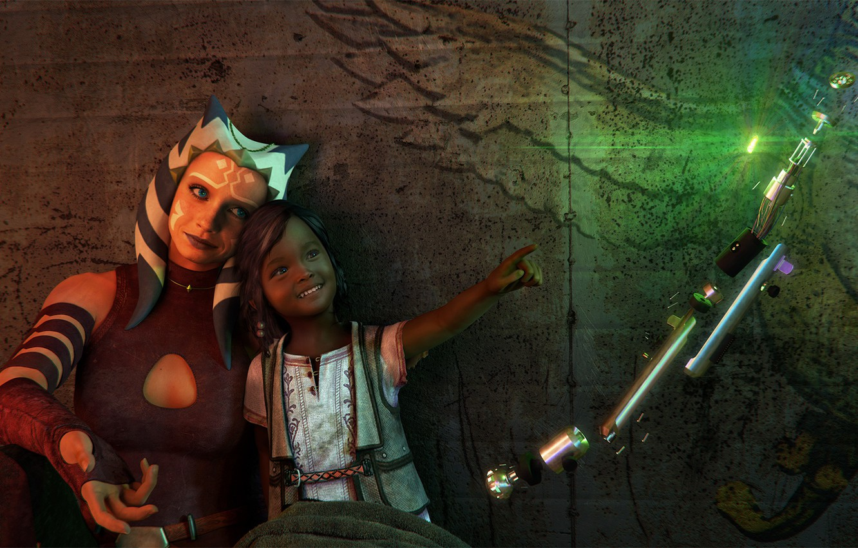 Фото обои рендеринг, девочка, пришелец, star wars, ahsoka tano