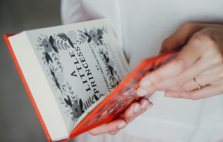 Фото обои руки, книга, страницы