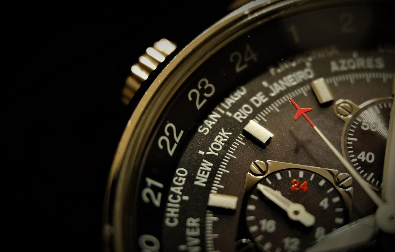 Фото обои макро, время, часы