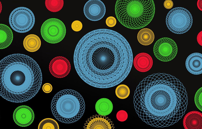 Обои краски, узор, Кольцо, Цвет. Абстракции foto 6