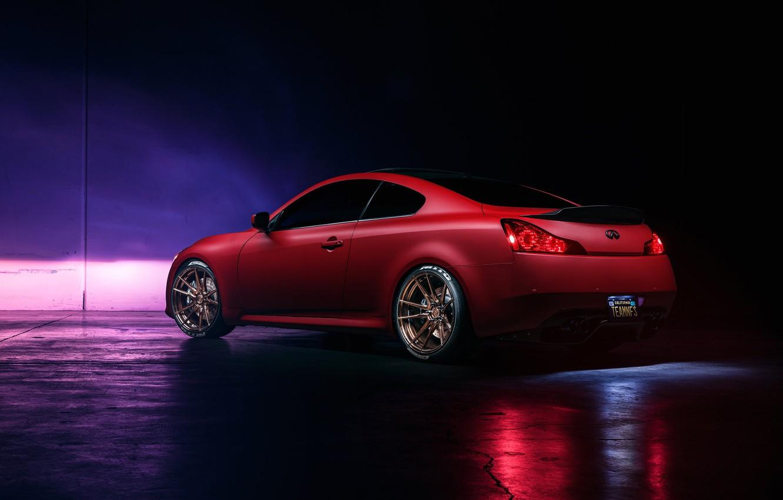 Фото обои Infiniti, Orange, Car, G37, Wheels, Rear, Rohana