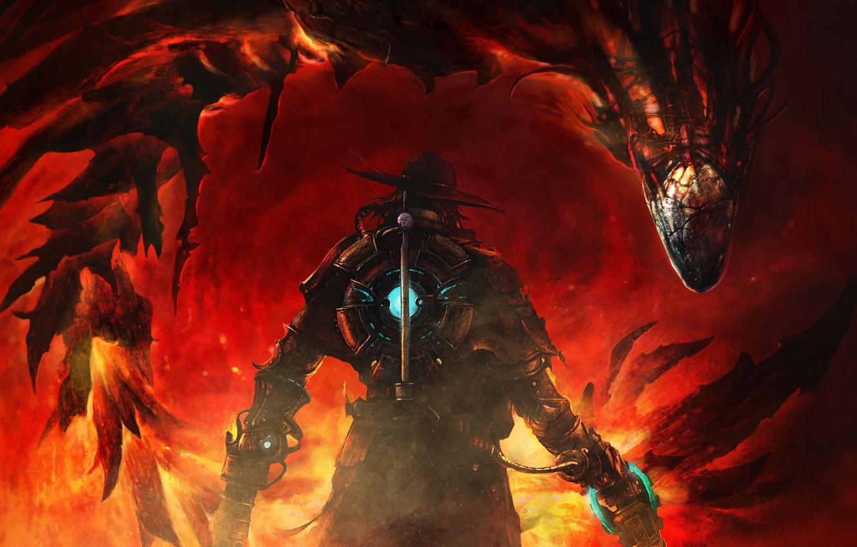 Фото обои red, game, dragon, hunter, The Incredible Adventures of Van Helsing III