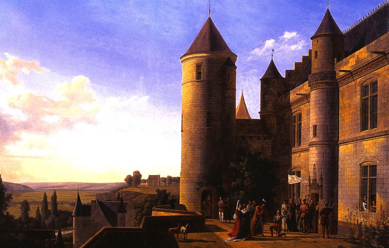 Фото обои 1819, Александр Луи Робер, Встреча Жанны Д'Арк с дофином Карлом в замке Лош, Миллин-Дюперье