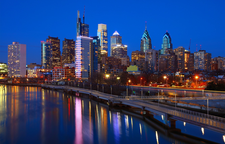 Обои филадельфия, philadelphia, ночь, сша. Города foto 6
