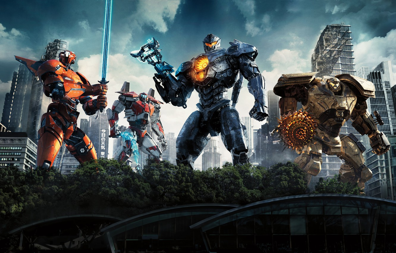 Фото обои Action, Fantasy, Robots, Legendary Pictures, Machine, Big, year, 2018, Large, EXCLUSIVE, Pilot, Jake, Movie, Battle, …