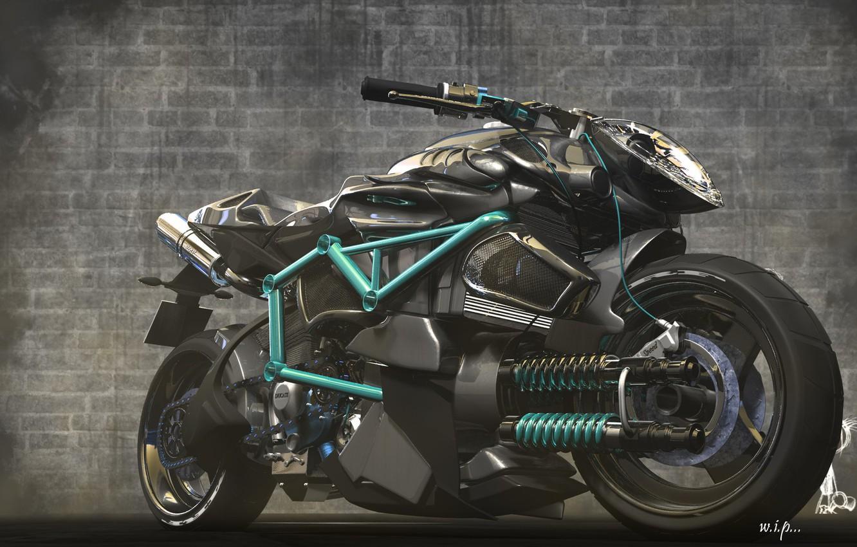 Фото обои мотоцикл, Concept bike, unstoppable shaurya