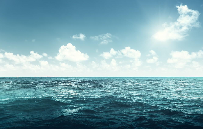 Фото обои море, океан, sea, ocean, blue, seascape, wave