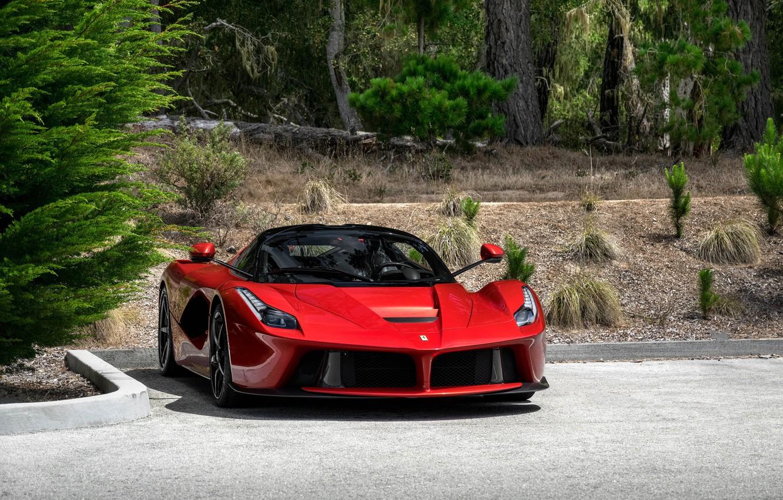Фото обои Ferrari, Italia, RED, LaFerrari