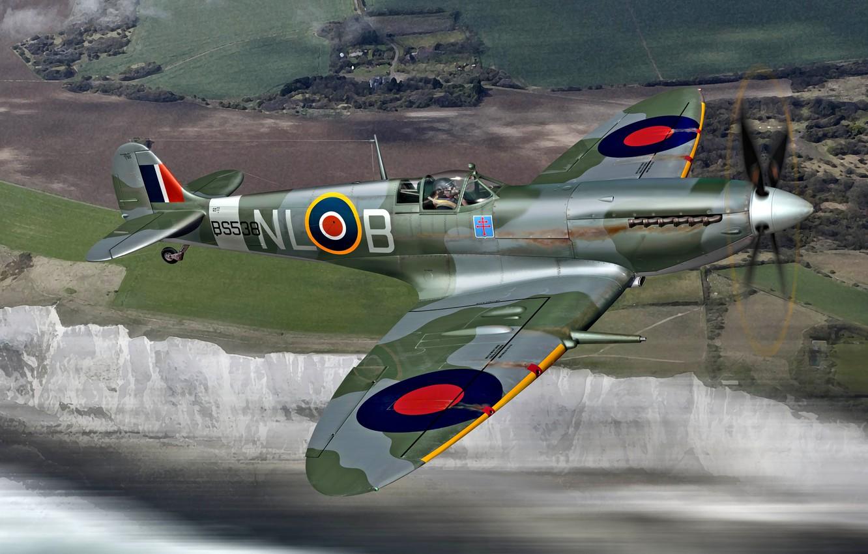 Обои spitfire, mk.ixc, Supermarine. Авиация foto 9