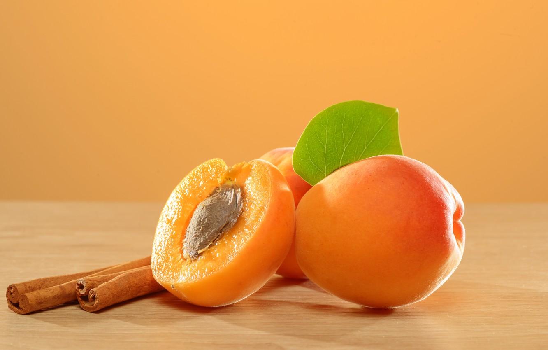 Фото обои фрукты, корица, абрикосы, apricot