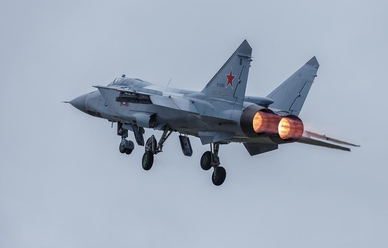 Обои ввс, миг-31, перехватчик, россии, истребитель, Самолёт. Авиация foto 12