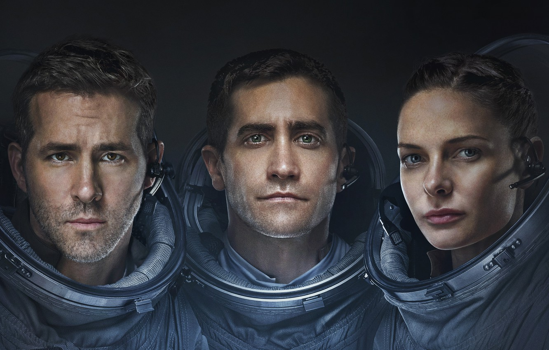 Фото обои Girl, Ryan Reynolds, Stars, Space, Galaxy, Jake Gyllenhaal, Men, year, Woman, Horror, Travel, Movie, Film, …