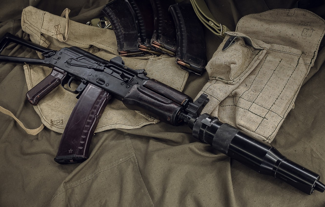 Фото обои автомат, weapon, оружее, assault Rifle, АКС-74У