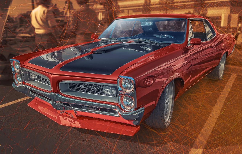 Фото обои дизайн, автомобиль, Pontiac GTO