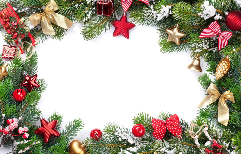 Фото обои украшения, елка, Новый Год, Рождество, happy, Christmas, New Year, Merry Christmas, Xmas, gift, decoration, frame, …