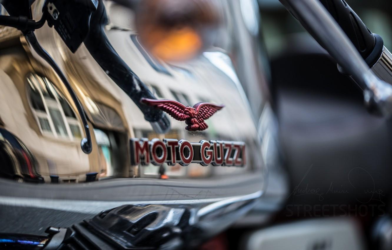 Фото обои макро, фон, Moto guzzi