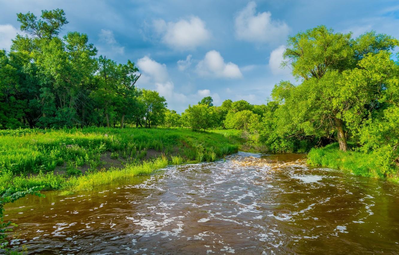 Фото обои пейзаж, природа, река, красота