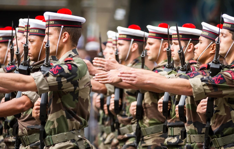 Фото обои армия, солдаты, Paris, строй, French army, Parade