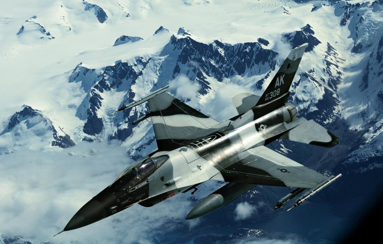 Обои force, military, F16. Авиация foto 9
