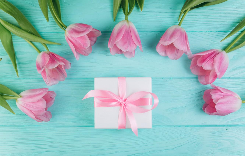 Фото обои любовь, цветы, подарок, тюльпаны, love, розовые, fresh, wood, pink, flowers, beautiful, romantic, tulips, gift, spring, …