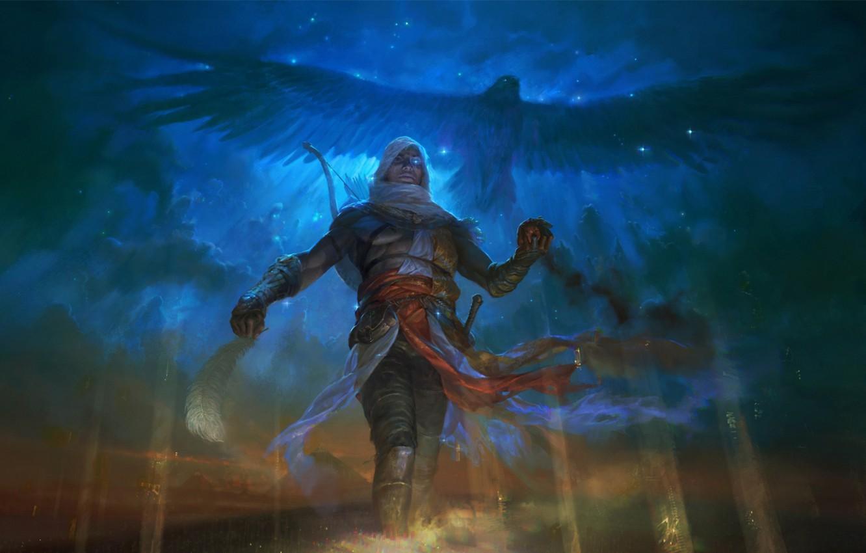 Фото обои убийца, art, Ubisoft, Bayek, assassin's creed origins