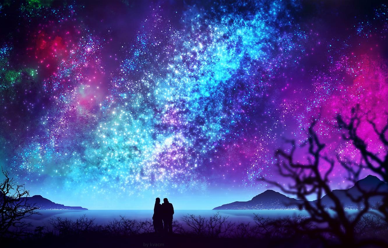 Фото обои небо, вода, ночь, природа, пара, by kvacm