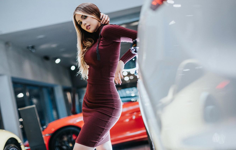 Фото обои поза, фигура, платье, Антон Харисов, Мария Васильева