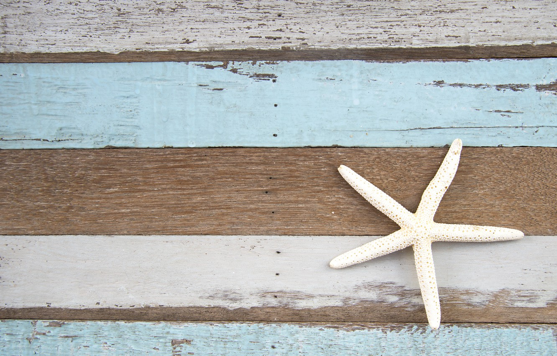 Фото обои фон, дерево, доски, морская звезда, vintage, texture, background, marine, wooden, starfish