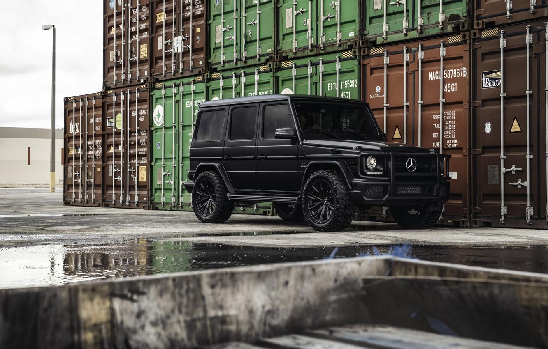 Фото обои black, Mercedes Benz, AMG, Matte, Gelandewagen, G Wagon