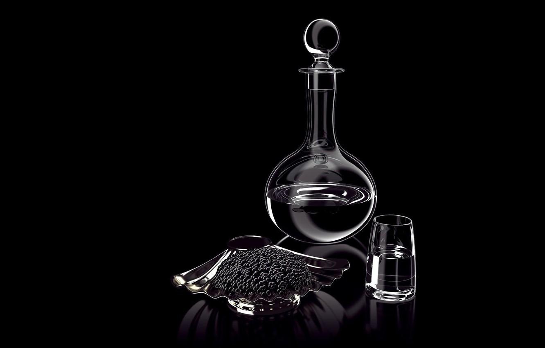 Обои стекло, натюрморт, бутылка, цветы, графин. Разное foto 19