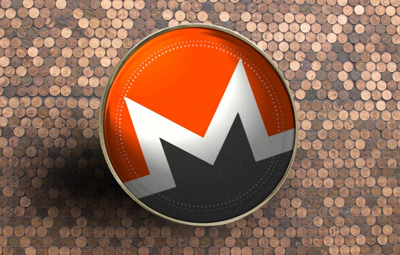 Фото обои лого, валюта, монета, Monero, монеро, xmr
