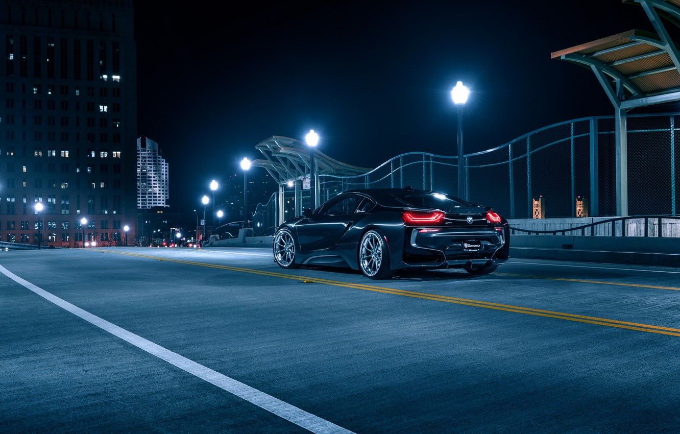 Фото обои BMW, Black, Night, Collection, Aristo, Rear