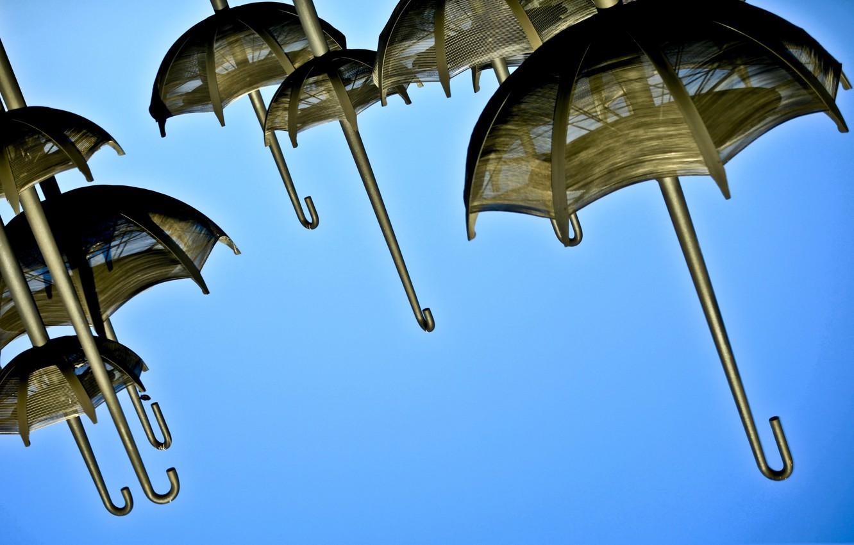 Фото обои небо, зонтик, зонт
