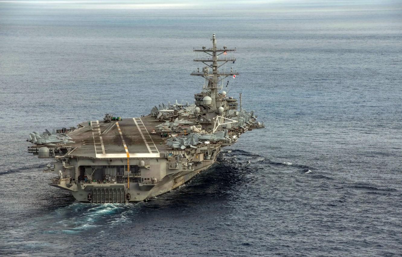 Фото обои оружие, армия, флот, USS Ronald Reagan (CVN 76)