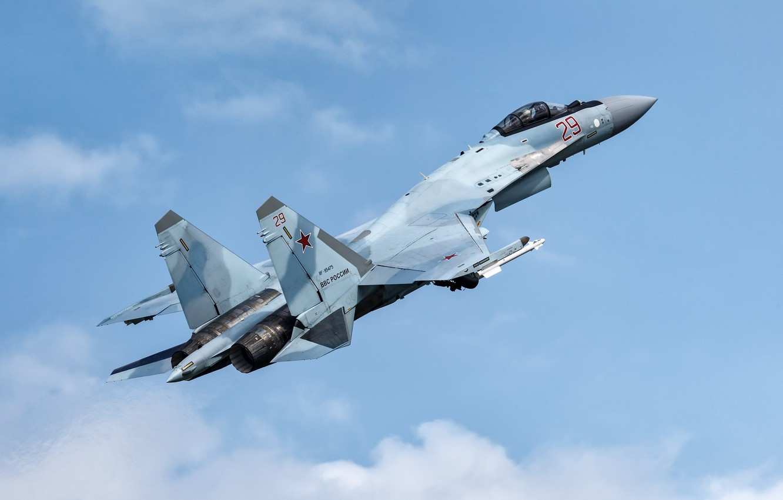 Обои Su-35S, Самолёт. Авиация foto 8