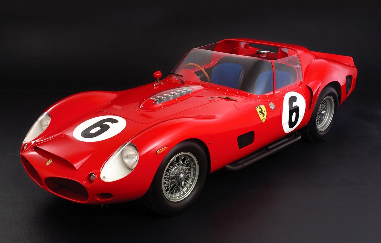 Фото обои Ferrari, Spyder, 1962, 330, TRI/LM, Testa Rossa