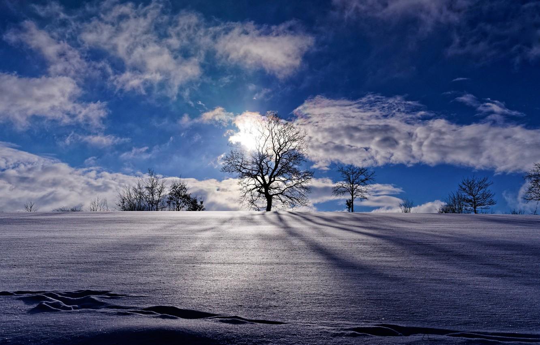 Зима небо картинки