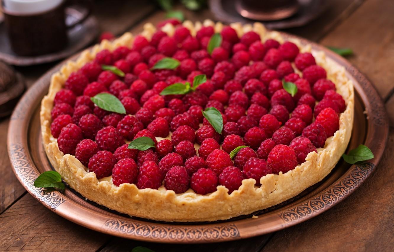 Фото обои ягоды, клубника, пирог, выпечка