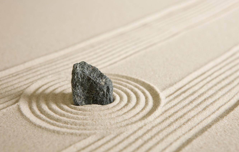 Фото обои песок, камни, stone, sand, zen