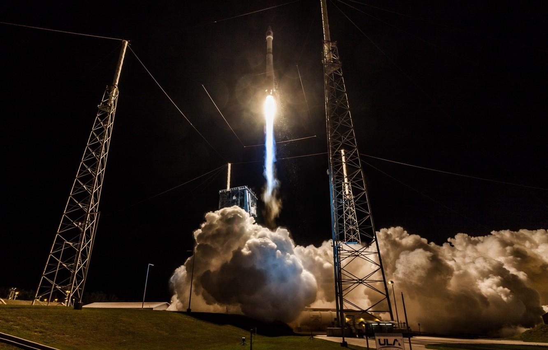 Фото обои ракета, старт, Atlas V