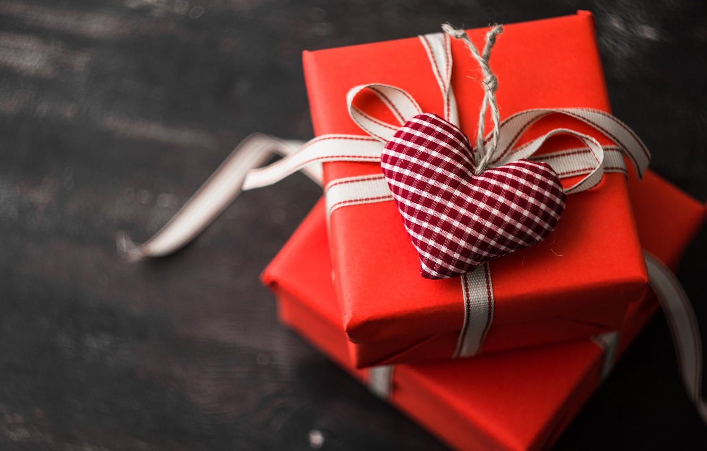Фото обои праздник, сердце, подарки, коробки, фигурка