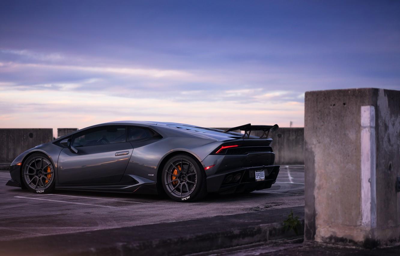Фото обои вечер, Lamborghini, evening, Huracan, Lamborghini Huracan