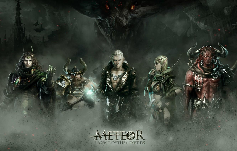 Фото обои арт, fantasy, battle, RPG, Legend of the Cryptids, Meteor, Choi Yongjae
