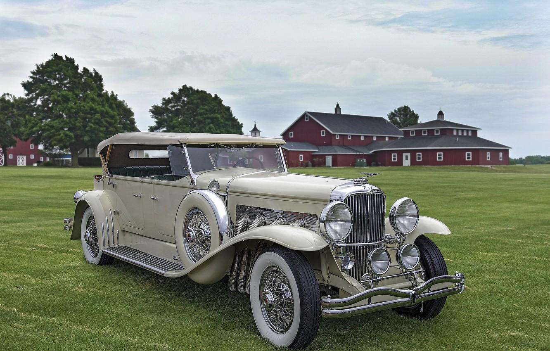 Фото обои ретро, классика, Duesenberg, 1931 Duesenberg Model J Tourster