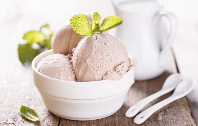 увеличение молочных мороженое шариками фото нежный салат