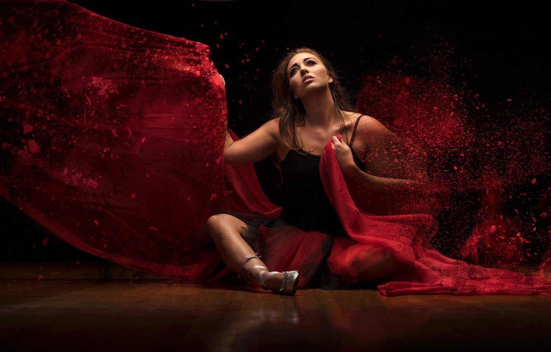 Фото обои девушка, ситуация, балерина