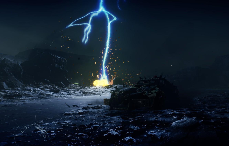 Фото обои молния, game, Mad Max