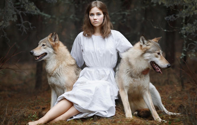 Картинки волками девушками