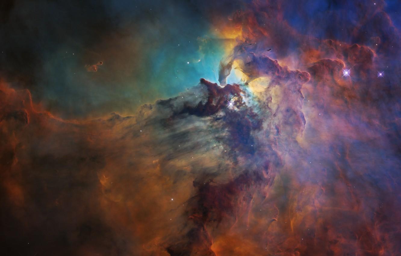 Фото обои космос, галактика, лагуна, laguna, Туманность Лагуна